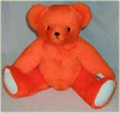 Bright Orange Teddy Bear