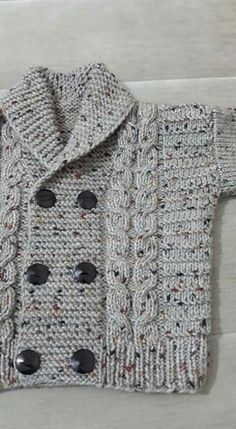 Diy Crafts - -Knit Baby Sweater, Hand Knitted Grey Baby Cardigan, Gray Baby boy Clothes, New Born Baby Gift for Baby Showers, Cable Knit coat Baby Knitting Patterns, Crochet Baby Sweater Pattern, Crochet Baby Sweaters, Baby Boy Knitting, Knitted Baby Cardigan, Knitted Baby Clothes, Knitting For Kids, Knitting Designs, Baby Patterns
