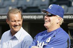 Kansas City Royal great George Brett with Kansas City Royals Manager Buddy Bell