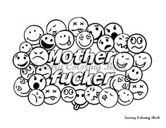 Mother fucker  Swear Words Coloring Page by SwearyColoringBook