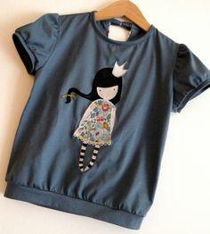 GORJUSS ! Patron japonais issu du livre Petites Filles Modèles - modèle A tee-shirt à manches ballons -