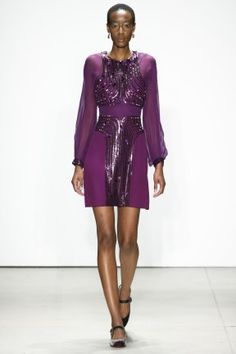 NYFW Fall 16 RTW   Jenny Packham 1980's Party in Paris   Purple metallic mini dress   The Luxe Lookbook