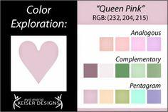 Eva Maria Keiser Designs: Explore Color:  Queen Pink