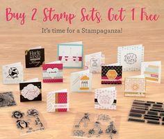 Stampaganza is here again!  Buy 2 get 1 FREE!! www.inspiredpapercrafts.com