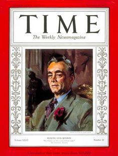 November 1935 - Manuel L. Immigration Act Of 1924, Immigration Policy, President Roosevelt, Mindanao, Time Magazine, Magazine Covers, 22 November, Manila