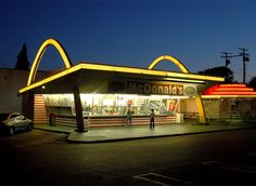 Oldest surviving McDonalds, Downey, CA. Building from 1953
