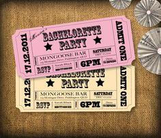 Bachelorette Party Invitations DIY Set (printable). $12.50, via Etsy.