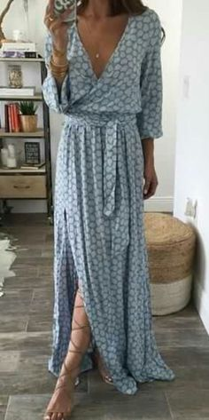 wrap maxi dress. spring style