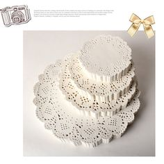 White Doily Paper Set Select one by verryberrysticker on Etsy