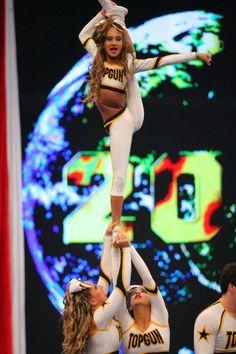 Gabi Butler - Top Gun Large Coed - The Cheerleading Worlds Cheerleading Workouts, Cheerleading Photos, Cheerleading Uniforms, Cheer Stunts, Cheer Dance, Cheer Uniforms, Cheer Picture Poses, Cheer Poses, Famous Cheerleaders