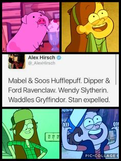 No but Wendy would be a Gryffindor and dipper is a slytherin. Gosh watch the show