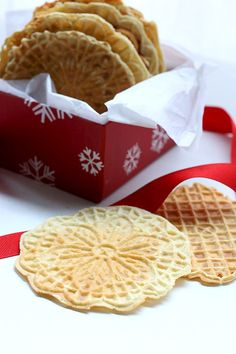 Light and crisp low carb pizzelle, a classic Christmas cookie gets a healthy makeover.