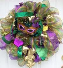 mardi gras wreaths ideas - Google Search