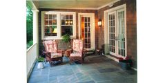 Shingle Home Style Porch Example