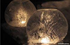 DIY Ice Globe Light by alaskadispatch. Photo by Jill Burke.   DIY