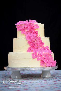 flower fall-3 layer-white-cake