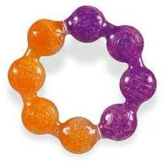 Freezable teething rings are fantastic.