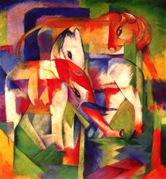 All relevant information on the work Elefant, Pferd, Rind, Winter by the artist Franz Marc, as well as references to the its origin. Franz Marc, Wassily Kandinsky, Artist Canvas, Canvas Art, Cavalier Bleu, George Grosz, Blue Rider, Expressionist Artists, Art Reproductions