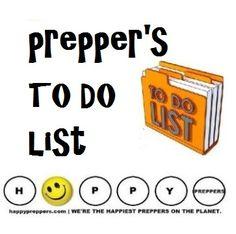 Prepper's TO DO list