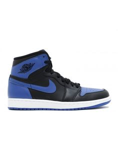 3a6487410bd7 Air Jordan 1 Retro High Og 2013 Release Black Varsity Royal Black 555088  085 Nike Air