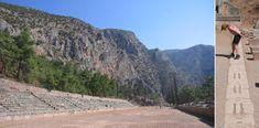 The Stadium of Delfi and hia starting line