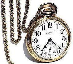 Men's Railroad Watch...  Men's, late 1800s silver, Waltham brand, railroad watch on a chain