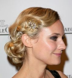 great mix finger waves and pin curl and vintage hair jewel pins