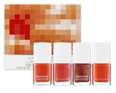 Flaunt a variety of gorgeous nail looks in the 2012 Color of the Year, Tangerine Tango.  United by a passion for color, Sephora and Pantone combine their expertise to become beauty's leading authority on color. Sharing affection for how color can transform a face, mood, or even an attitude, this breakthrough beauty partnership will change how you wear, feel, and think about color.  Join us in celebrating Color of the Year: Tangerine Tango!