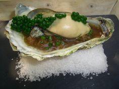 Campoviejo: ostra del Eo con contrastes de ternera Meat, Chicken, Food, Gastronomia, Cooking, Oysters, Beef, Entrees, Essen