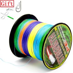 Lure Gift 10 Color To Choice PE Multifilament Braided Fly Fishing Line 4 Strands Carp Fishing Rope Cord Peche Carpe Fly Fishing Line, Carp Fishing, Braids, Entertaining, Men Hats, Gifts, Free Shipping, Products, Fishing Line