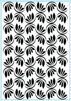 Dancing Leaves (E106) Stencil Patterns, Stencil Designs, Pattern Art, Print Patterns, Stencil Painting, Stenciling, Laser Cut Panels, Elizabeth Craft Designs, 3d Laser