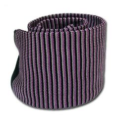 Purple Knit Tie with Black Stripes