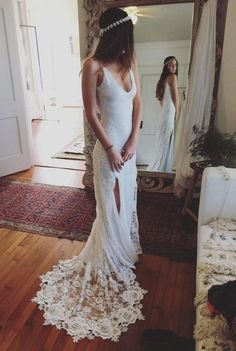 boho lace gown