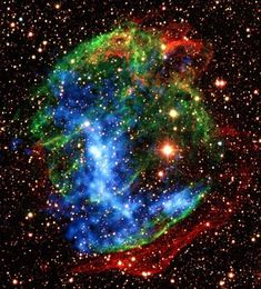 ♥ Infrared image of the supernova remnant from the ground W49B