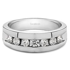 Aspiring 14k Yellow Gold Genuine Baguette Diamond Channel Set Design Band Ring New Gift Save 50-70% Jewelry & Watches Diamond