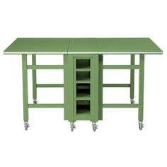 Martha Stewart Living Rhododendron Leaf Collapsible Craft Table-0795000600 - The Home Depot