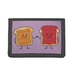 Peanut Butter and Jelly Fist Bump Tri-fold Wallets
