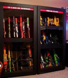 Great way to store nerf guns!