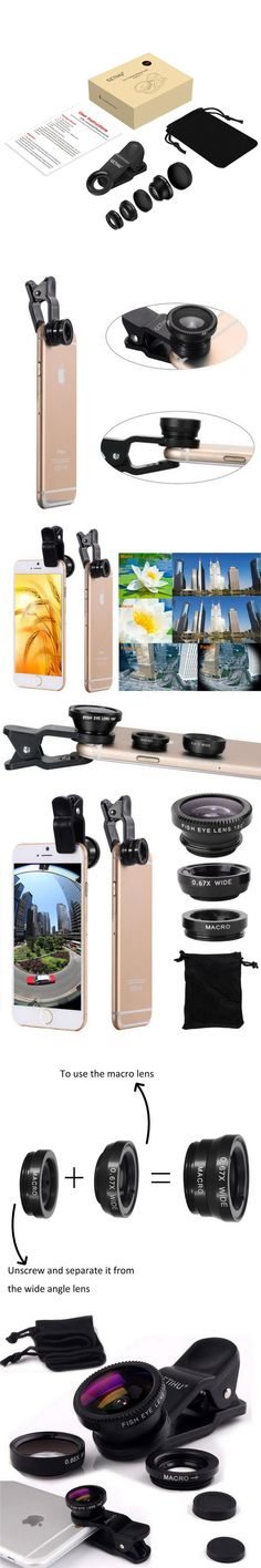 Universal Fisheye 3 in 1 Wide Angle Macro Lens Smartphone Mobile Phone lenses Fish Eye for iPhone 6 6s 7 s Plus Camera Lentes