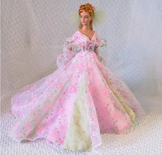 bride doll, pink gown