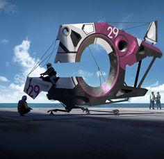 Piranha Airship, Matt Tkocz on ArtStation at https://www.artstation.com/artwork/piranha-airship