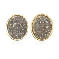 sparkly earrings.