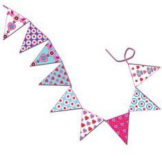 Pour une guirlande de fête. demain c'est la fête de toutes les mamans. Ces petits fanions colorés seront parfait pour confectionner une jolie guirlande festive en un rien de temps.
