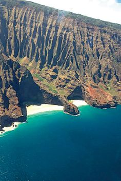 The Napali Coast in Kawai, Hawaii