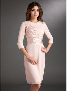 Sheath Scoop Neck Knee-Length Chiffon Charmeuse Mother of the Bride or Groom Dress  JJ's House, Bridal & bridal accessories.  www.jjshouse.com We ship to Australia, Canada, U.K. New Zealand, Switzerland, Norway, Russia, Brazil, Netherlands & the USA.   Please mention that you found them thru Jevel Wedding Planning's Pinterest Account.  Keywords: #motherofbridedresses #motherofgroomdresses #jevelweddingplanning Follow Us: www.jevelweddingplanning.com  www.facebook.com/jevelweddingplanning/