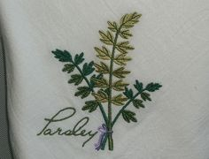 Flour sack kitchen towel. Embroidered by 3starmilitarymom on Etsy, $8.50