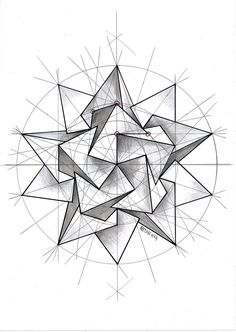 coolTop Geometric Tattoo - #polyhedra #solid #geometry #symmetry #pattern #handmade #mathart #regolo54 #Esc...