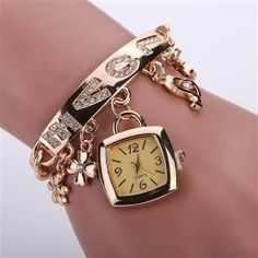 Reloj mujer - Bing - Compras Fancy Watches, Rose Gold Watches, Heart Bracelet, Bracelet Watch, Diamond Quartz, Fashion Bracelets, Jewelry Gifts, Women Accessories, Kate Spade