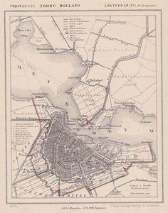 afbeelding van Kuyperkaart Gemeente Amsterdam van Kuyper (Kuijper)