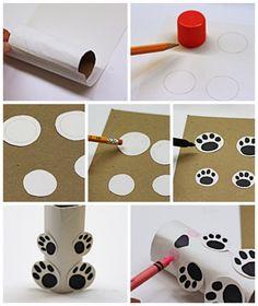 Cardboard Tube Polar Bear - Crafts by Amanda Winter Crafts For Kids, Winter Kids, Art For Kids, Polo Norte, Toilet Paper Art, Toilet Paper Roll Crafts, Cardboard Toys, Cardboard Playhouse, Cardboard Furniture